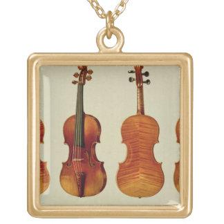 Violins (LtoR): the 'Alard' by Antonio Stradivariu Gold Plated Necklace