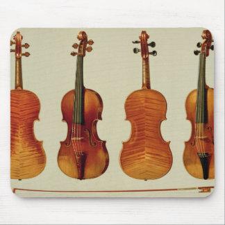 Violins (LtoR): the 'Alard' by Antonio Stradivariu Mouse Mat