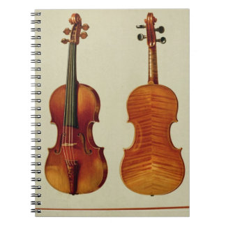 Violins (LtoR): the 'Alard' by Antonio Stradivariu Notebook