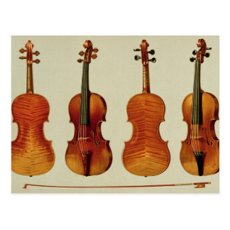 Violins (LtoR): the 'Alard' by Antonio Stradivariu Postcard