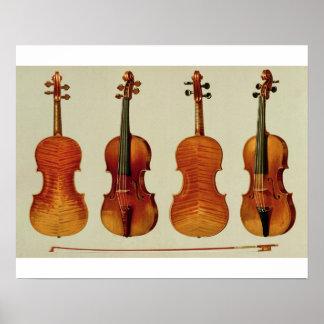 Violins (LtoR): the 'Alard' by Antonio Stradivariu Poster
