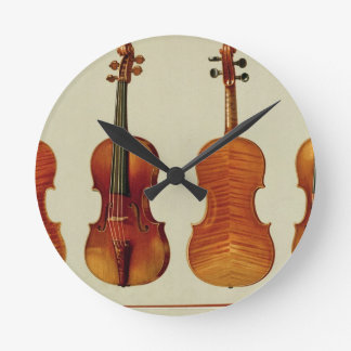 Violins (LtoR): the 'Alard' by Antonio Stradivariu Round Clock
