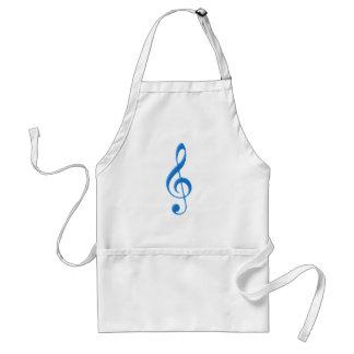 Violinschlüssel violin clef standard apron