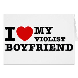 Violist Boyfriend Designs Greeting Card