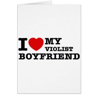 Violist Boyfriend Designs Cards