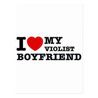 Violist Boyfriend Designs Postcards