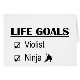 Violist Ninja Life Goals Greeting Card
