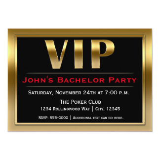 VIP Black & Gold Luxury Party Invitation