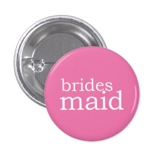 VIP Button   Bridesmaid Pink