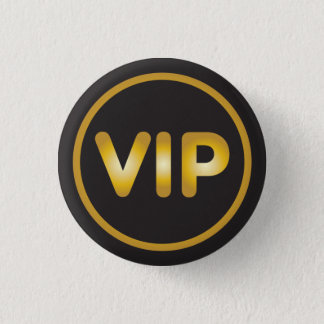 VIP button gold on black