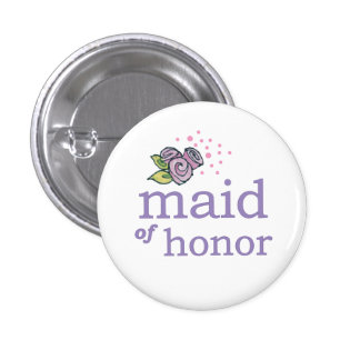 VIP Button | Maid of Honor Roses
