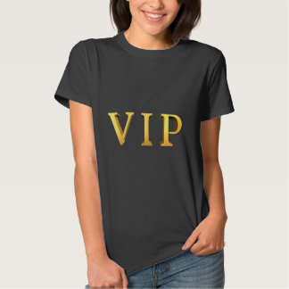 VIP Gold Letters with 3D Look Slogan Tshirts