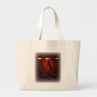 "VIP Gold ""W"" monogram in red and black Large Tote Bag"