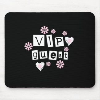 VIP Guest Flowers Mouse Pad