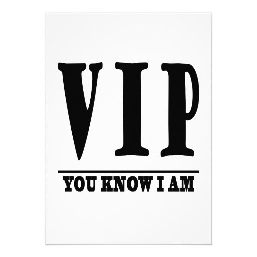 VIP PERSONALIZED INVITE