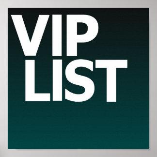 Vip List Poster