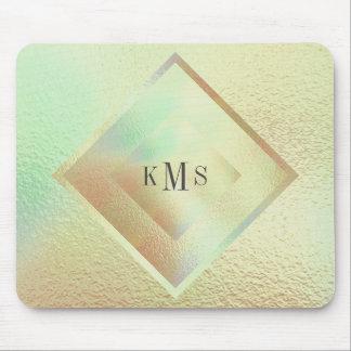 Vip Monogram Mint Peach Geometrical Mousepad