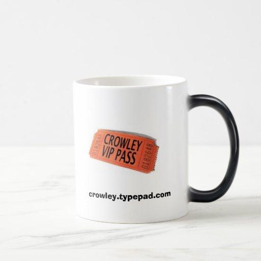 VIP Pass, crowley.typepad.com Morphing Mug
