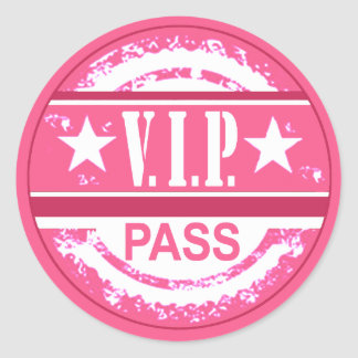 VIP Pass Party Sticker (pink)