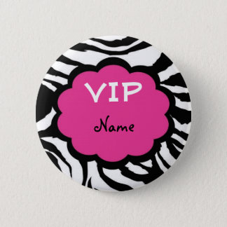VIP Personalized Party Favor 6 Cm Round Badge