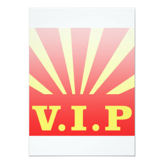 VIP sunburst 13 Cm X 18 Cm Invitation Card