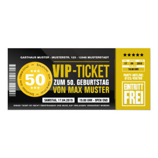 VIP TICKET invitation maps (ocher orange)