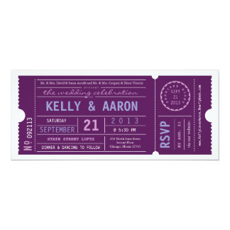 VIP Vintage Ticket Wedding Invitation
