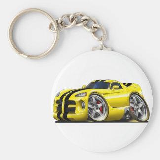 Viper GTS Yel/Blk Basic Round Button Key Ring