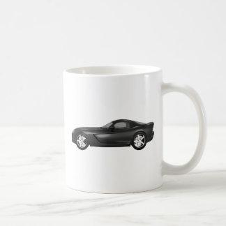 Viper Hard-Top Muscle Car: Black Finish Basic White Mug