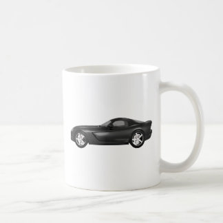Viper Hard-Top Muscle Car: Black Finish Coffee Mug