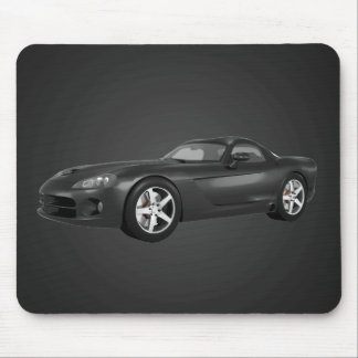 Viper Hard-Top Muscle Car: Black Finish: Mousepad