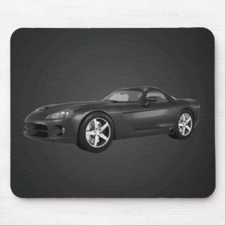 Viper Hard-Top Muscle Car: Black Finish: Mousepad