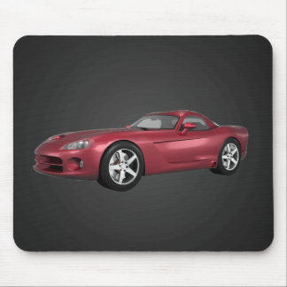 Viper Hard-Top Muscle Car: Candy Apple: Mousepad
