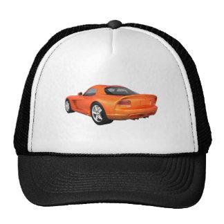 Viper Hard-Top Muscle Car: Orange Finish Mesh Hat