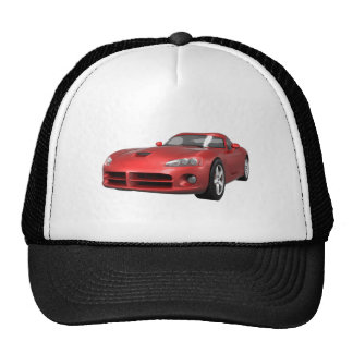 Viper Hard-Top Muscle Car: Red Finish Hat