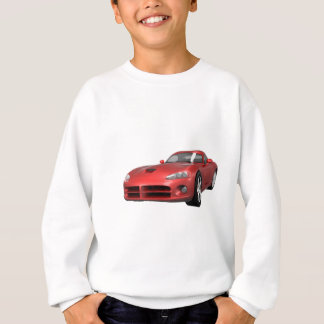 Viper Hard-Top Muscle Car: Red Finish Sweatshirt