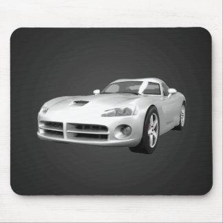 Viper Hard-Top Muscle Car: White Finish: Mousepad
