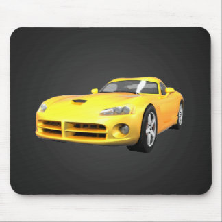 Viper Hard-Top Muscle Car: Yellow Finish: Mousepad