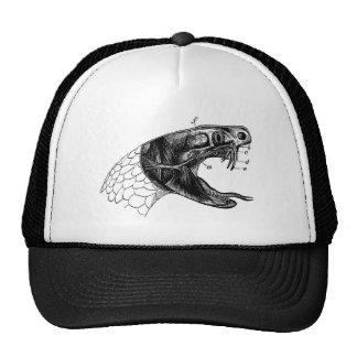 viper snake vintage illustration mesh hat