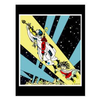 Viperetta Flies to the Moon Postcard