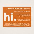 VIPKID Teacher Referral / Recruitment Cards