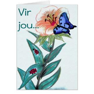 Vir jou - Afrikaanse Groetekaartjie Greeting Cards