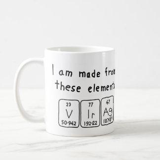 Virág periodic table name mug