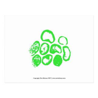 Viral Small green motif Post Cards