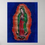 Virgen de Guadalupe Coloured Pencil Art Poster