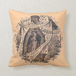 Virgen de Guadalupe with Juan Diego Throw Cushions