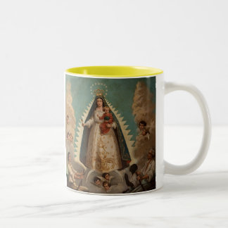 Virgen de La Caridad del Cobre Two-Tone Coffee Mug