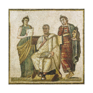 Virgil  and the Muses, from Sousse Stretched Canvas Prints
