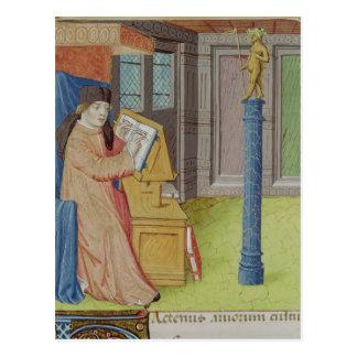 Virgil writing before Artemis Postcard