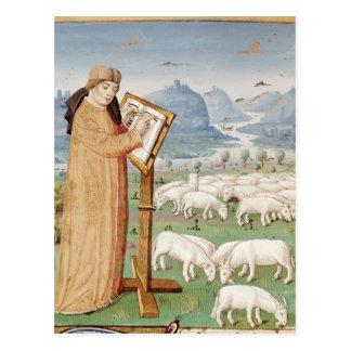 Virgil Writing in a Field of Sheep and Goats Postcard
